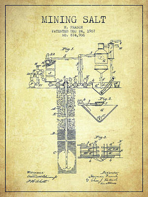 Machinery Digital Art - 1907 Mining Salt Patent En36_vn by Aged Pixel