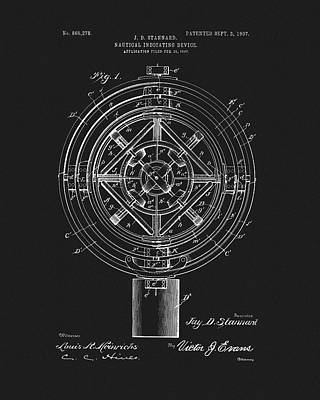 1907 Nautical Indicating Device Art Print by Dan Sproul