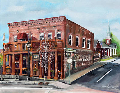 Painting - 1907 Restaurant And Bar - Ellijay, Ga - Historical Building by Jan Dappen