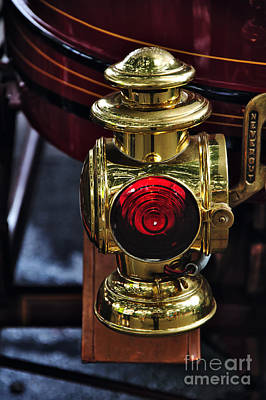 Photograph - 1907 Stanley Steamer - Brass Tail Light by Kaye Menner