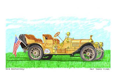 Painting - 1907 Thomas Flyer by Jack Pumphrey