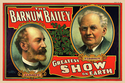 Drawing - 1908 Barnum And Bailey Greatest Show On Earth by Movie Poster Prints