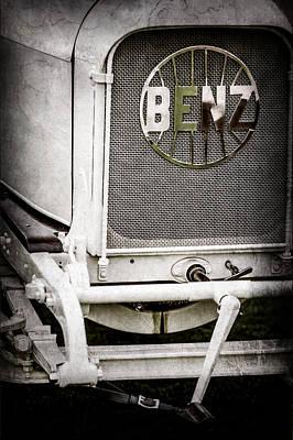 1908 Photograph - 1908 Benz Prince Heinrich Two Seat Race Car Grille Emblem -1696ac by Jill Reger