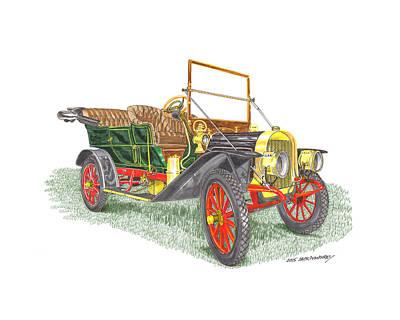 Painting - 1908 Rambler Kenosha Cadillac by Jack Pumphrey
