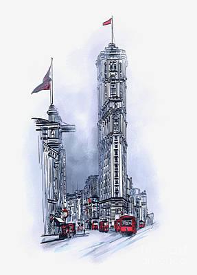 Painting - 1908 Times Square,ny by Andrzej Szczerski