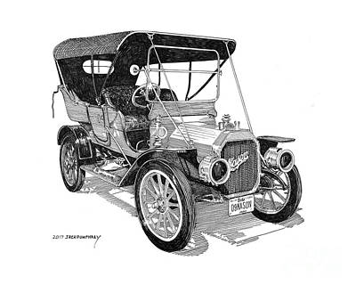 Drawing - 1909 Mason Touring Sedan by Jack Pumphrey