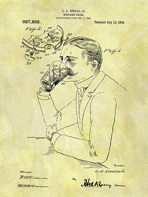 1909 Mustache Guard Patent Art Print