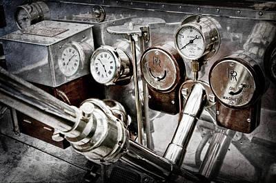 Photograph - 1909 Rolls-royce Silver Ghost Roi Des Belges Instraments -0164ac by Jill Reger