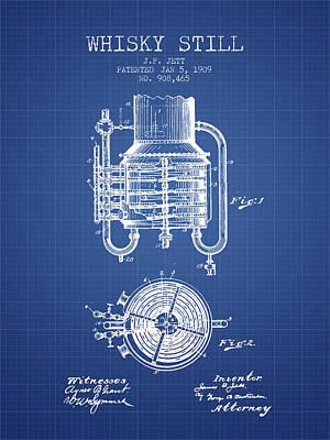 Whiskies Digital Art - 1909 Whisky Still Patent Fb78_bp by Aged Pixel