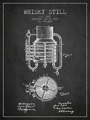 Whiskies Digital Art - 1909 Whisky Still Patent Fb78_cg by Aged Pixel
