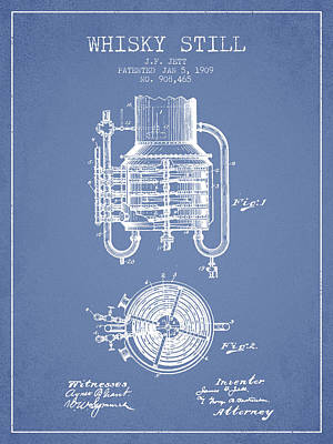 Whiskies Digital Art - 1909 Whisky Still Patent Fb78_lb by Aged Pixel