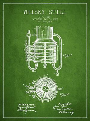 Whiskies Digital Art - 1909 Whisky Still Patent Fb78_pg by Aged Pixel