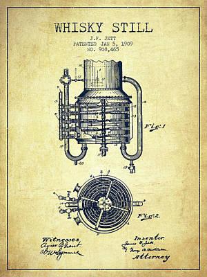 Whiskies Digital Art - 1909 Whisky Still Patent Fb78_vn by Aged Pixel