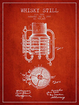 Whiskies Digital Art - 1909 Whisky Still Patent Fb78_vr by Aged Pixel