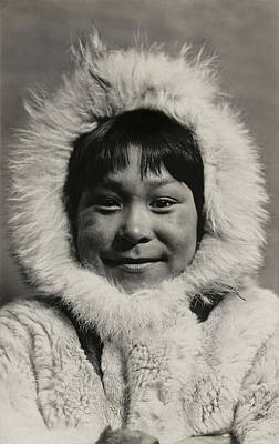 Photograph - 1910 Eskimo Child by Historic Image