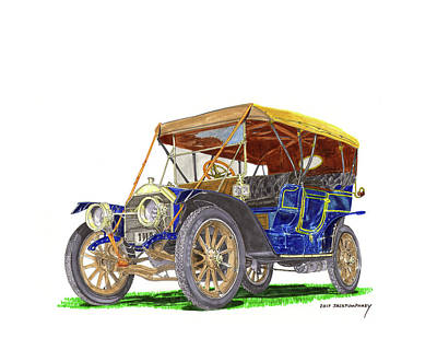 Painting - 1910 Knox Touring by Jack Pumphrey