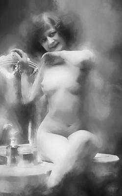 Digital Art - 1910 Nude In Steam by John Haldane