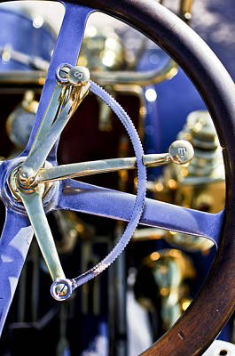 Photograph - 1910 Pope Hartford T Steering Wheel by Jill Reger