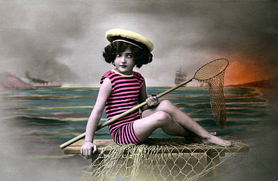 Photograph - 1910 Ready For The Beach by Historic Image