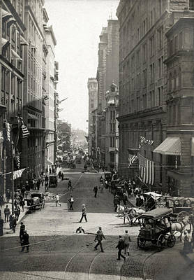 Photograph - 1910 State Street Traffic Boston by Historic Image