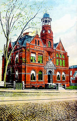 Photograph - 1911 Danville Post Office by Lisa and Norman  Hall