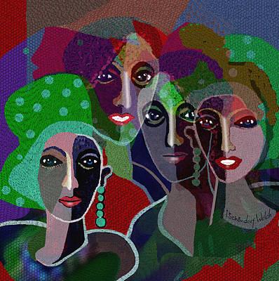 Digital Art - 1911- Ladies   Club 2017 by Irmgard Schoendorf Welch