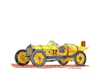 Painting - 1911 Marmon Wasp Indy Winner by Jack Pumphrey