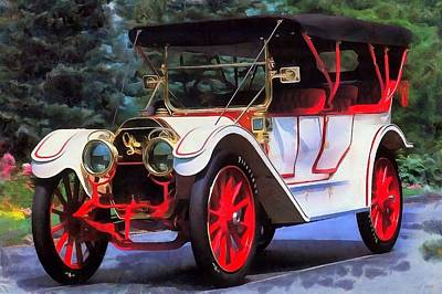 Painting - 1911 Oldsmobile Limited Touring Automobile by Maciek Froncisz