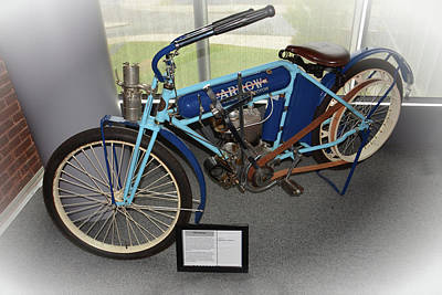Photograph - 1912 Arrow Motorcycle by Mike Martin