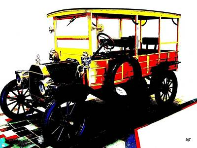 Digital Art - 1912 Ford Model T Taxi by Will Borden