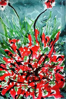 Amy Hamilton Animal Collage - Heavenly Flowers by Baljit Chadha