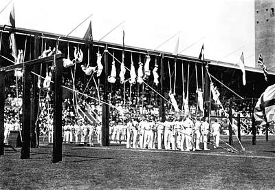 Gymnast Photograph - 1912 Olympics by Underwood Archives