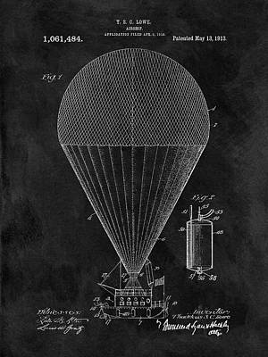 Aviators Drawing - 1913 Airship Patent by Dan Sproul