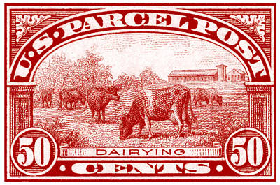 Painting - 1913 Dairy Industry Stamp by Historic Image
