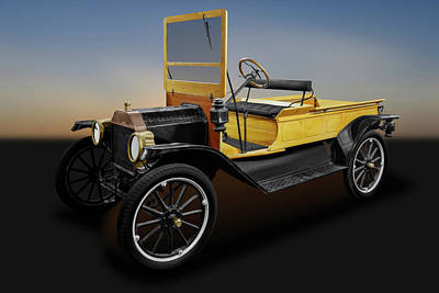 Photograph - 1913 Ford Model T Pickup Truck   -   1913fordmodeltpickup171942 by Frank J Benz