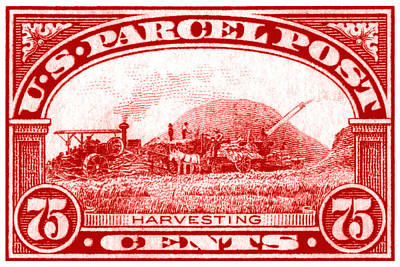 Painting - 1913 Harvesting Stamp by Historic Image