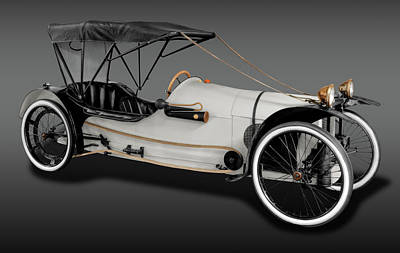 Photograph - 1913 Imp Cyclecar  -  1913impcycleautofa171742 by Frank J Benz