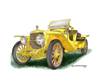 Painting - 1913 Lozier Type  72  Briarcliff  by Jack Pumphrey