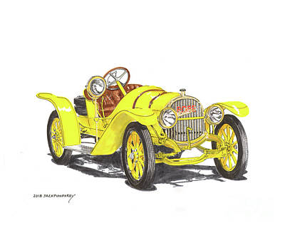 Painting - 1913 Pope Hartford Roadster by Jack Pumphrey