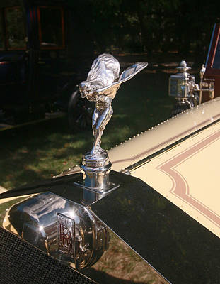 Photograph - 1913 Rolls Royce 40-50 H P Silver Ghost Hood Ornament by Allen Beatty