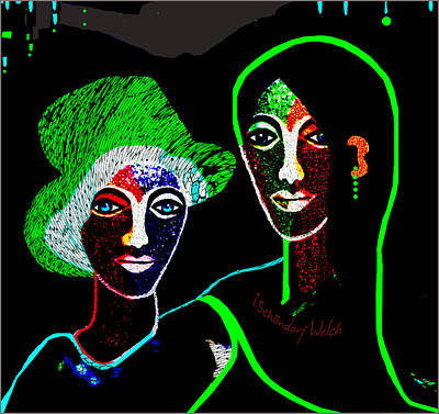Digital Art - 1914 Green Hat  by Irmgard Schoendorf Welch