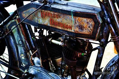 1914 Harley-davidson Motorcycle Art Print
