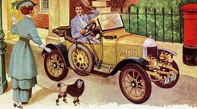 Transportation Painting - 1914 Morris Oxford by Peter Jackson