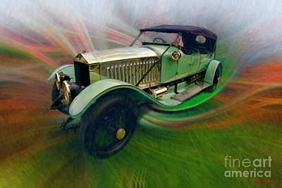 Photograph - 1914 Rolls-royce Silver Ghost Alpine Eagle Portholme Torpedo by Blake Richards