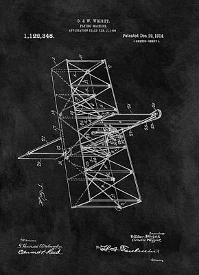 Knowledge Drawing - 1914 Wright Brothers Airplane by Dan Sproul
