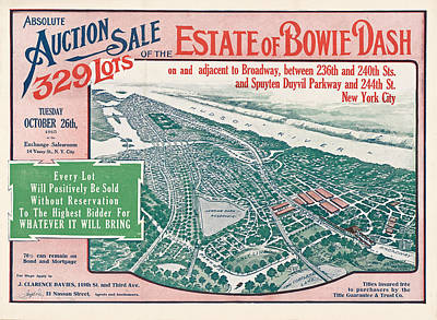 Photograph - 1915 Bronx Lots Sale Flyer by Rospotte Photography
