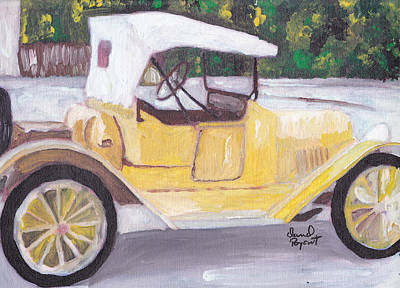 1915 Chevy Art Print by David Poyant Paintings
