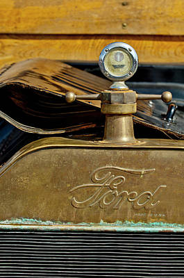 Hoodie Photograph - 1915 Ford Depot Hack Hood Ornament  by Jill Reger