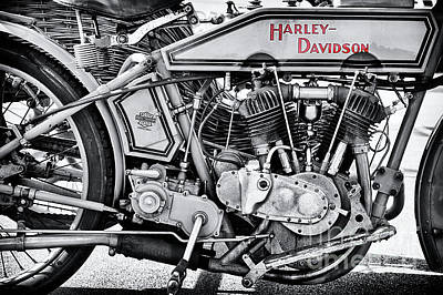 Photograph - 1915 Harley Davidson 11f Monochrome by Tim Gainey