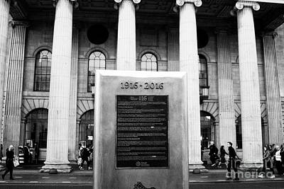 Postoffices Photograph - 1916 2016 Centenary Plaque In Front Of The Gpo Dublin Republic Of Ireland by Joe Fox
